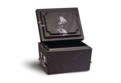 Doric Marble Urn Vault Short Black